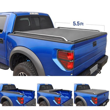 Tyger Auto T2 Low Profile Roll-Up Truck Bed Tonneau Cover TG-BC2N2081 works with 2004-2015 Nissan Titan   Fleetside 5.5
