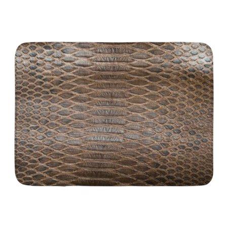 GODPOK Alligator Black Skin Brown Crocodile Snake Serpent Rug Doormat Bath Mat 23.6x15.7 (Brown Alligator Skin)