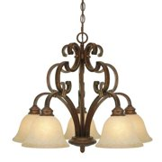 Golden - 3711-D5 CB - Five Light Nook Chandelier - Rockefeller Champagne Bronze - Champagne Bronze