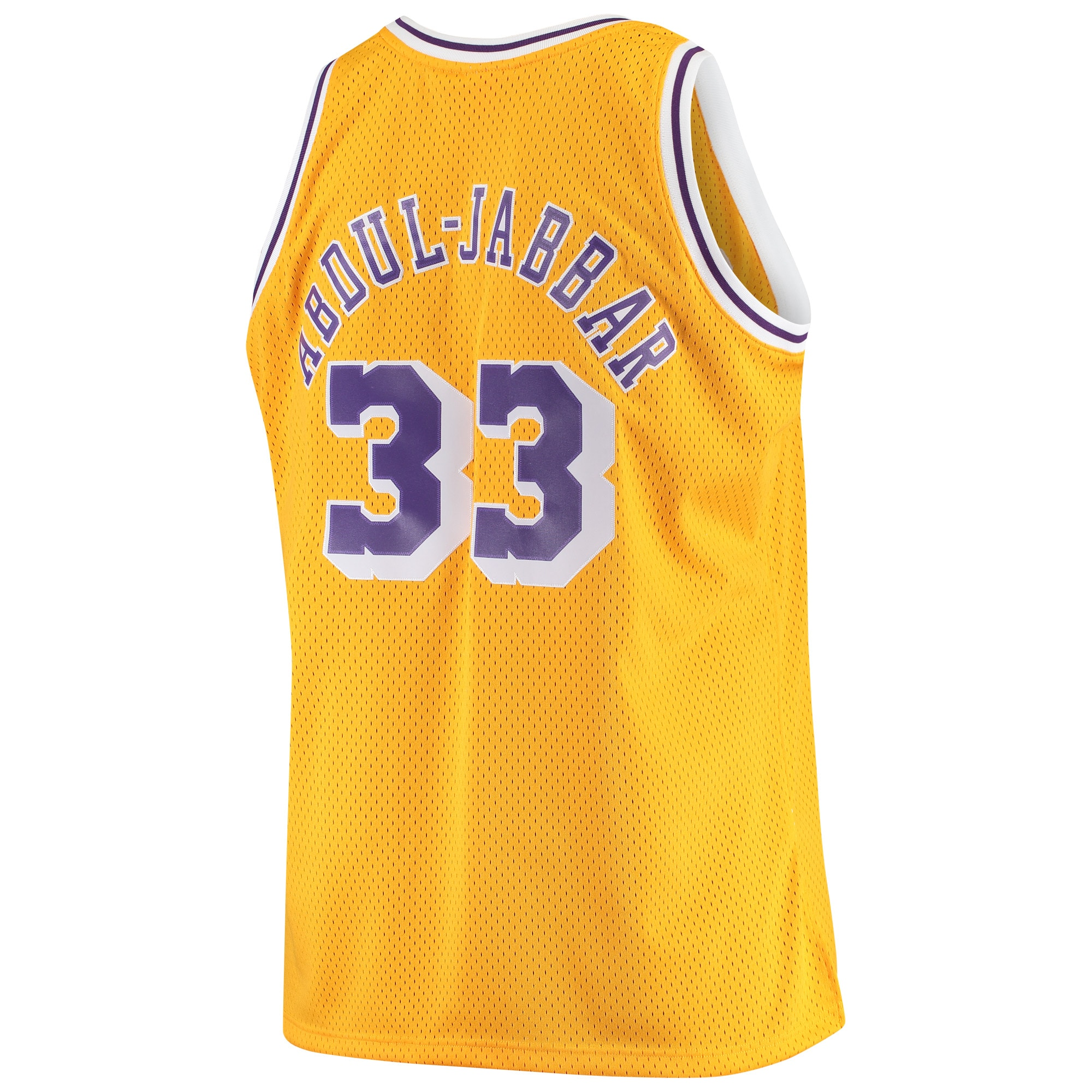Kareem Abdul-Jabbar Los Angeles Lakers Mitchell & Ness Big & Tall Hardwood Classics Jersey - Gold