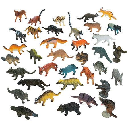 Set of 12 Forest Animals Action Figurines