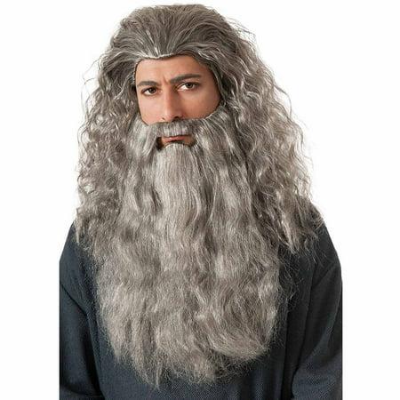 Gandalf Wig Beard Kit Adult Halloween Accessory](Old Man Wig And Beard)