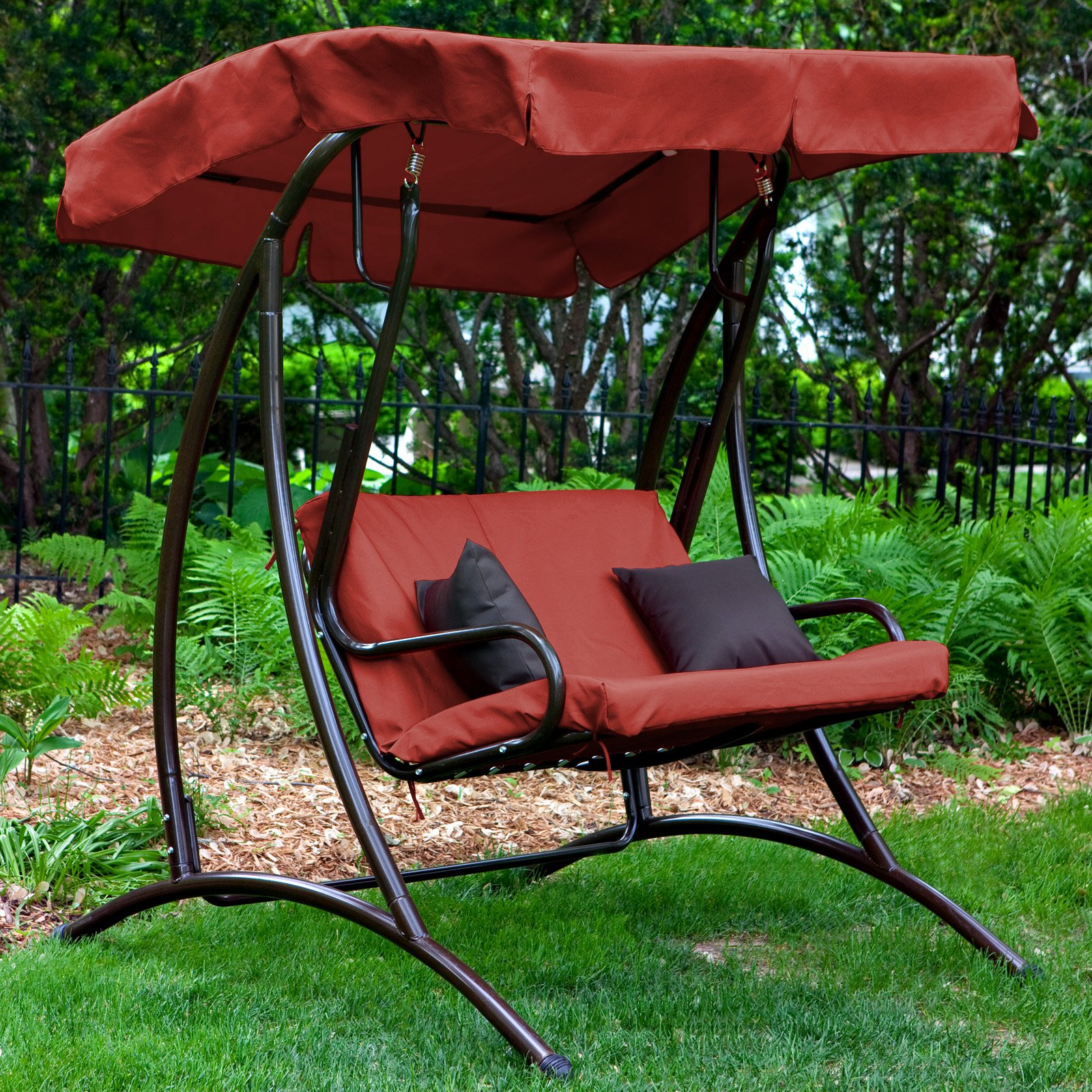 Coral Coast Long Bay 2 Person Canopy Swing Terra Cotta Walmart