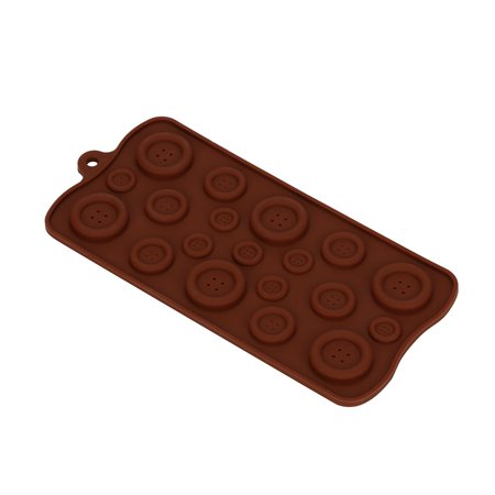 Button Mold (Mosunx 3D Buttons Silicone Fondant Mould Chocolate Sugarcraft Cake Mold Baking Tool)
