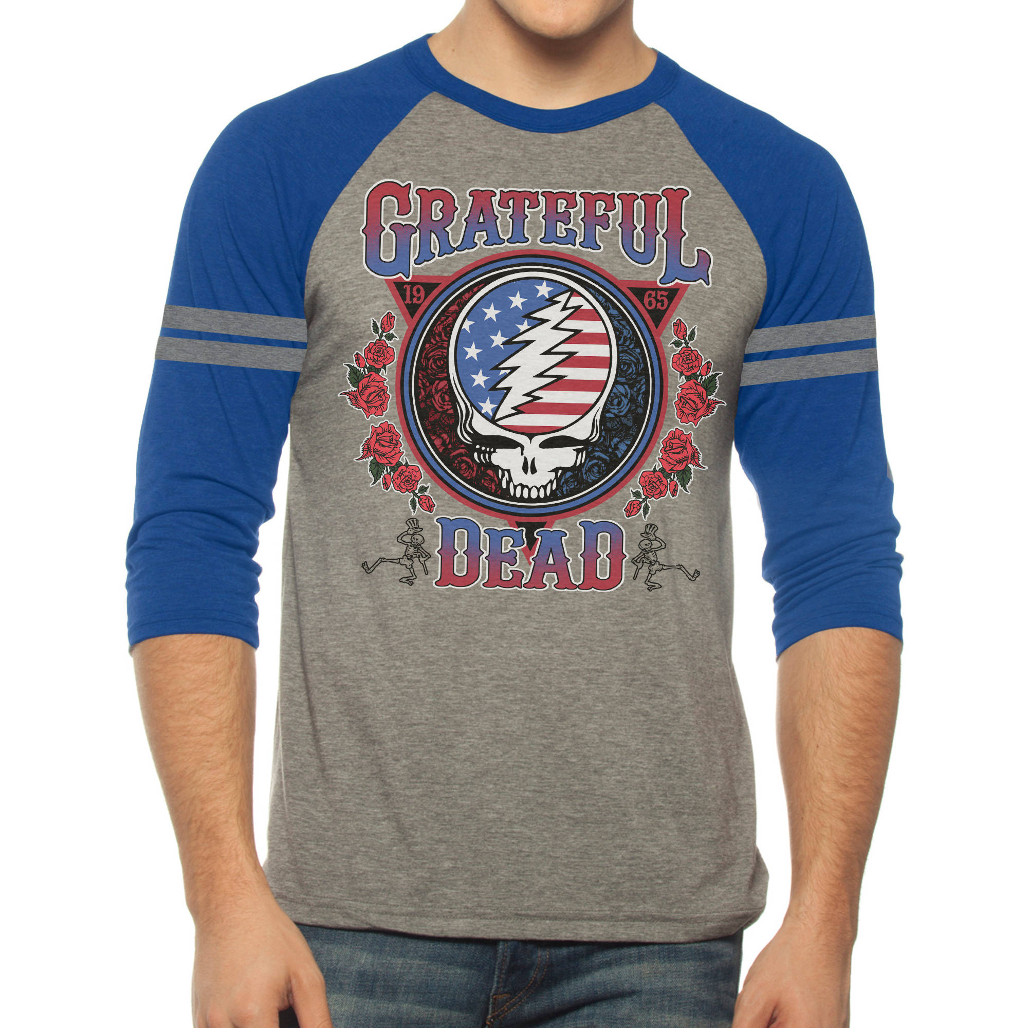 Grateful Dead Men's Graphic Raglan 3/4 Sleeve Tee
