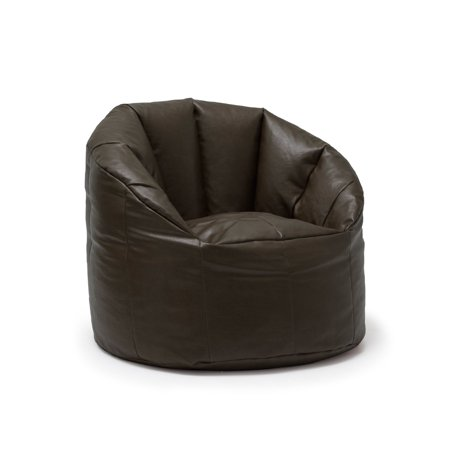 Big Joe Milano Bean Bag Vegan Faux Leather Chair Walmart Com