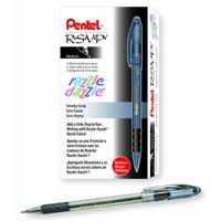 Pentel R.S.V.P. Razzle-Dazzle Ballpoint Pen, Medium Line, Green Barrel, Black Ink, Box of 12 (BK91RDD-A)