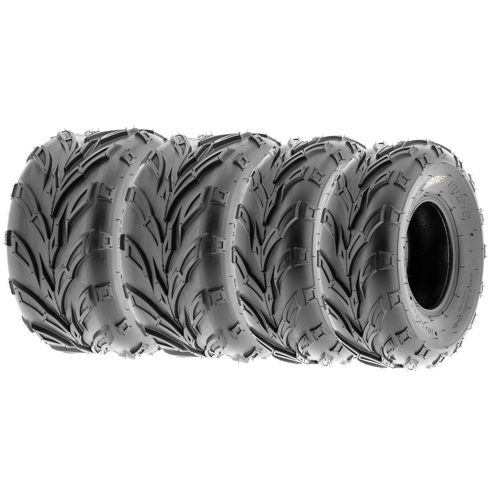 SunF ATV Quad Tires 19x7-8 & 19x9.5-8 4 PR A004 (Full set...