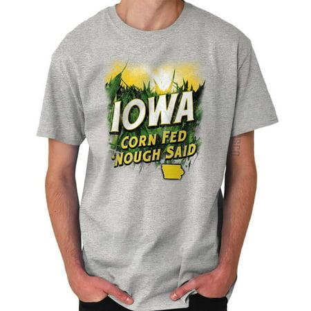 - Brisco Brands Iowa Corn Fed Funny State IA Short Sleeve Adult T-Shirt