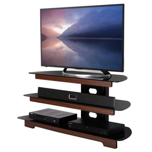 Fitueyes FTS312501GB 3-tires Tempered Glass and Wood Finished TV Stand - 32 to 58 inch TVs