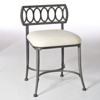 Hillsdale Canal Street Padded Vanity Stool, Multiple Finishes