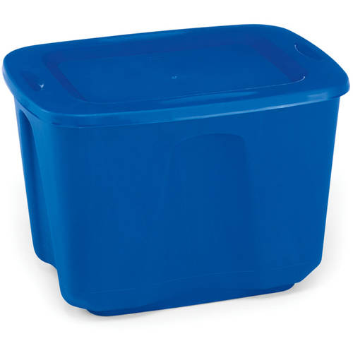 Home Products International Homz 18 - Gallon Storage Tote, Blue, Set of 4