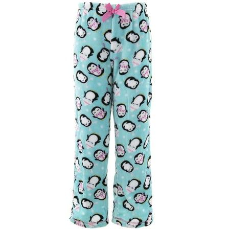 Rene Rofe Girls Penguins Blue Fleece Pajama Pants](Girls Fleece Pajamas)