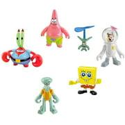 Spongebob Squarepants Imaginext Squidward, SpongeBob, Mr. Krabs, Patrick, Plankton & Sandy Mini Figure 6-Pack