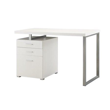 Scranton & Co 3 Drawer Computer Desk in White - image 2 of 2