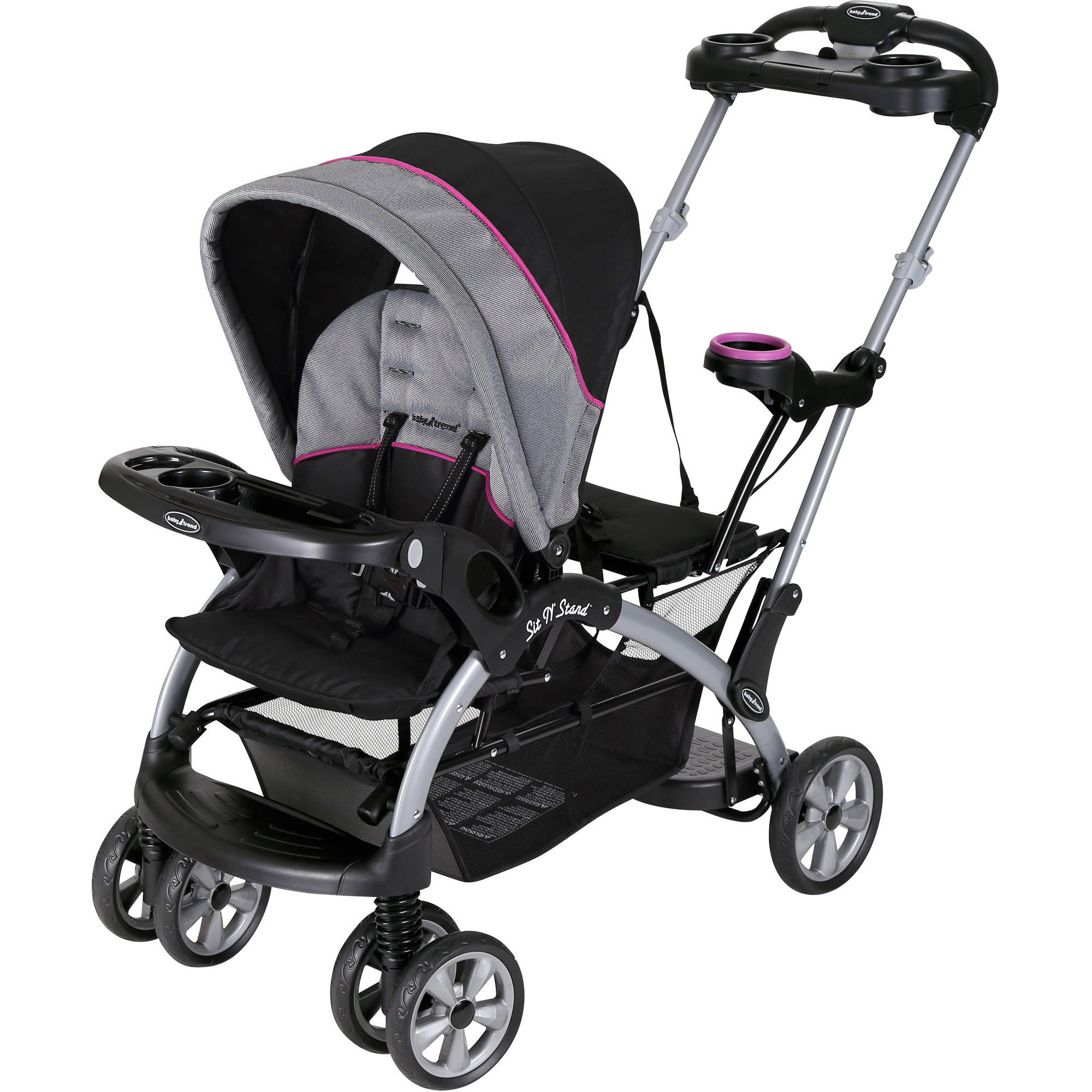Baby Trend Sit N Stand Ultra Double Stroller Millennium Raspberry