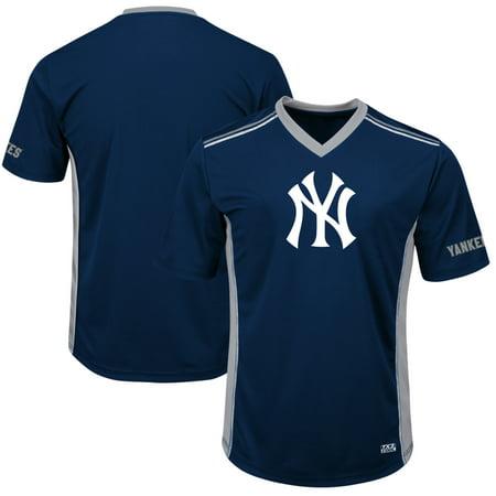 Men's Majestic Navy/Gray New York Yankees Big & Tall Memorable Moments T-Shirt
