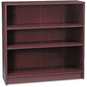 HON 1870 Series Bookcase, Three Shelf, 36w x 11 1/2d x 36 1/8h, Henna Cherry