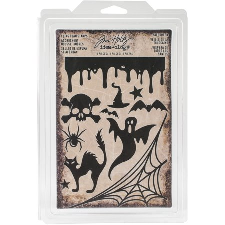 Idea-Ology Cling Foam Stamps 11/Pkg-Halloween - Holly Halloween