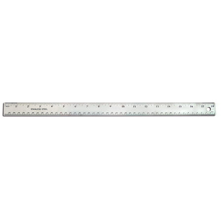 18In Stainless Steel Ruler