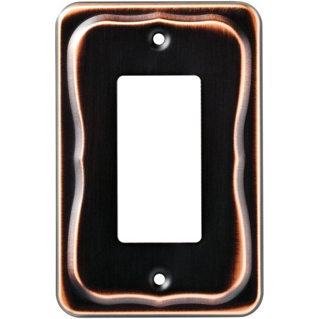 Renaissance Dark Bronze Wall - Franklin Brass Tenley Single Decorator Wall Plate, Bronze