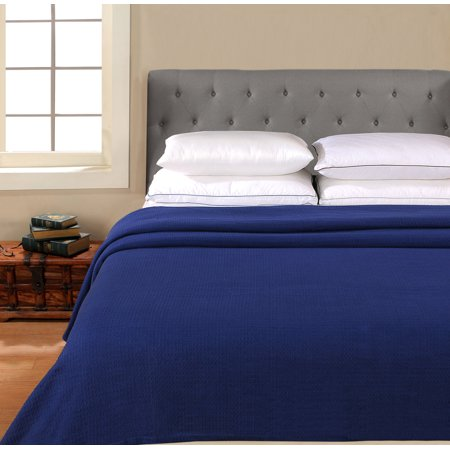 Cotton Blanket by Better Homes & Gardens, Waffle Textured Navy