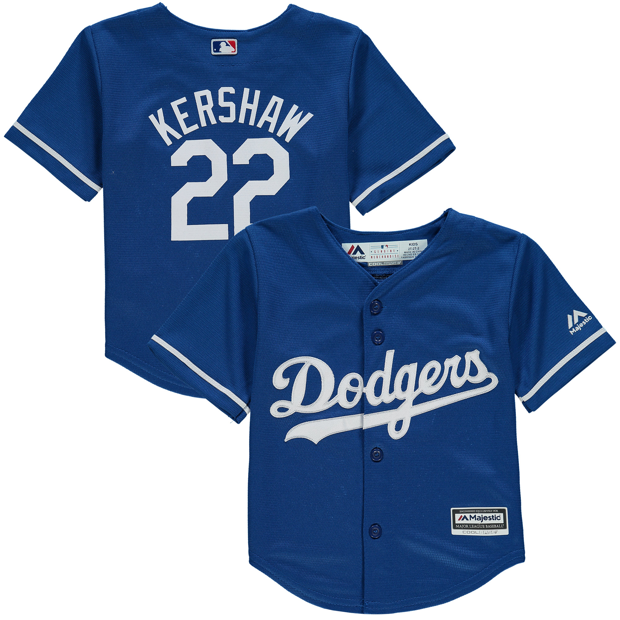 Clayton Kershaw Los Angeles Dodgers Majestic Toddler Fashion Official Cool  Base Player Jersey - Royal cd30ce51711