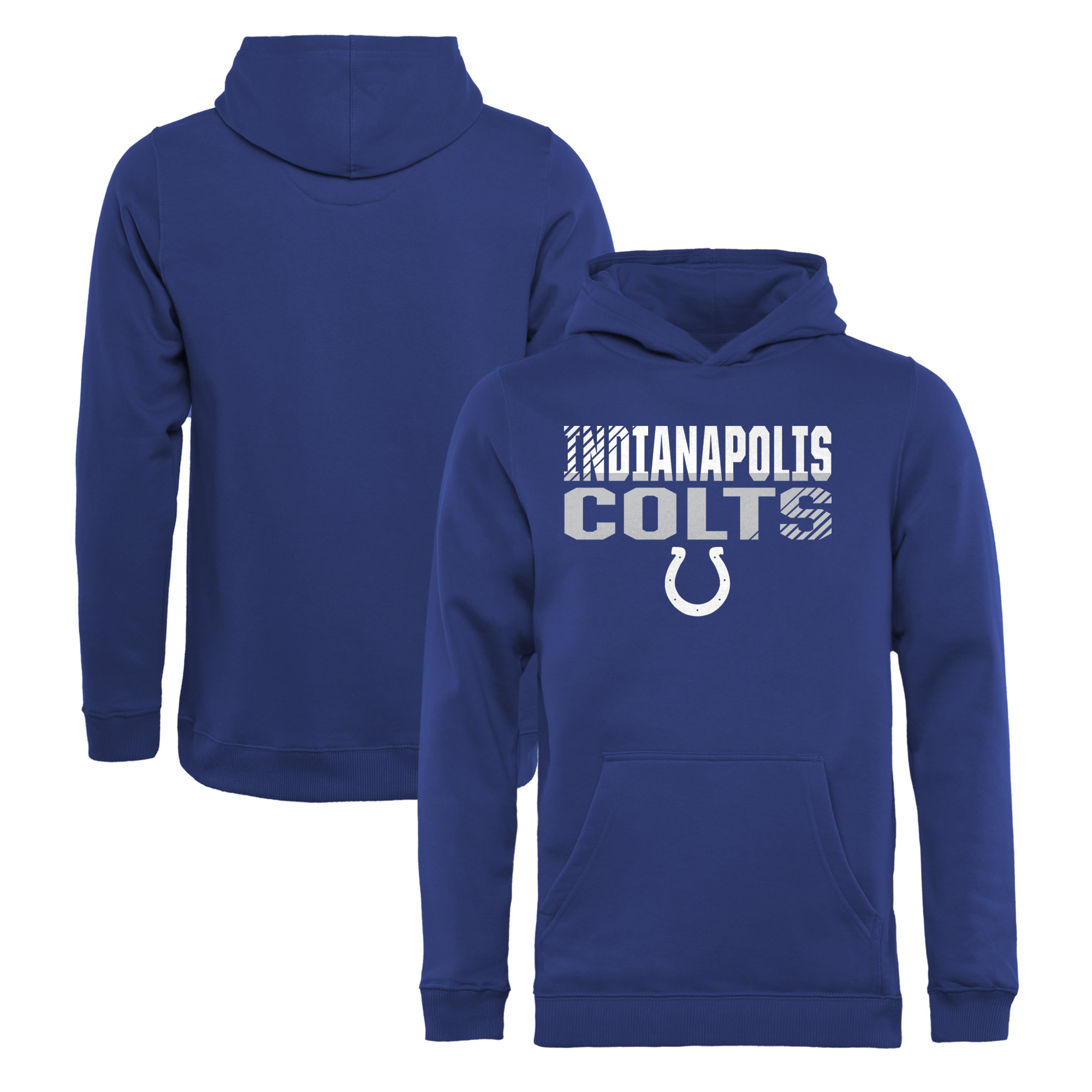 Indianapolis Colts NFL Pro Line by Fanatics Branded Youth Iconic Collection Fade Out Pullover Hoodie - Royal