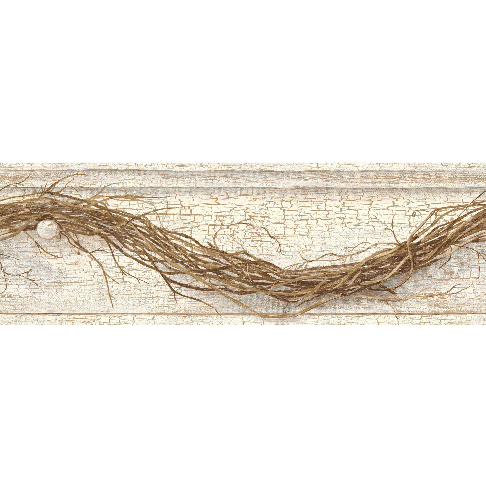 Country Keepsakes Grapevine Twig Border Wallpaper
