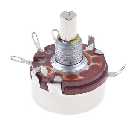 3K ohm 2W WH118-1A Round Shaft Carbon Rotary Taper Potentiometer