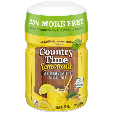 (3 Pack) COUNTRY TIME Yellow Lemonade Powdered Soft Drink 23.9 oz. Cannister