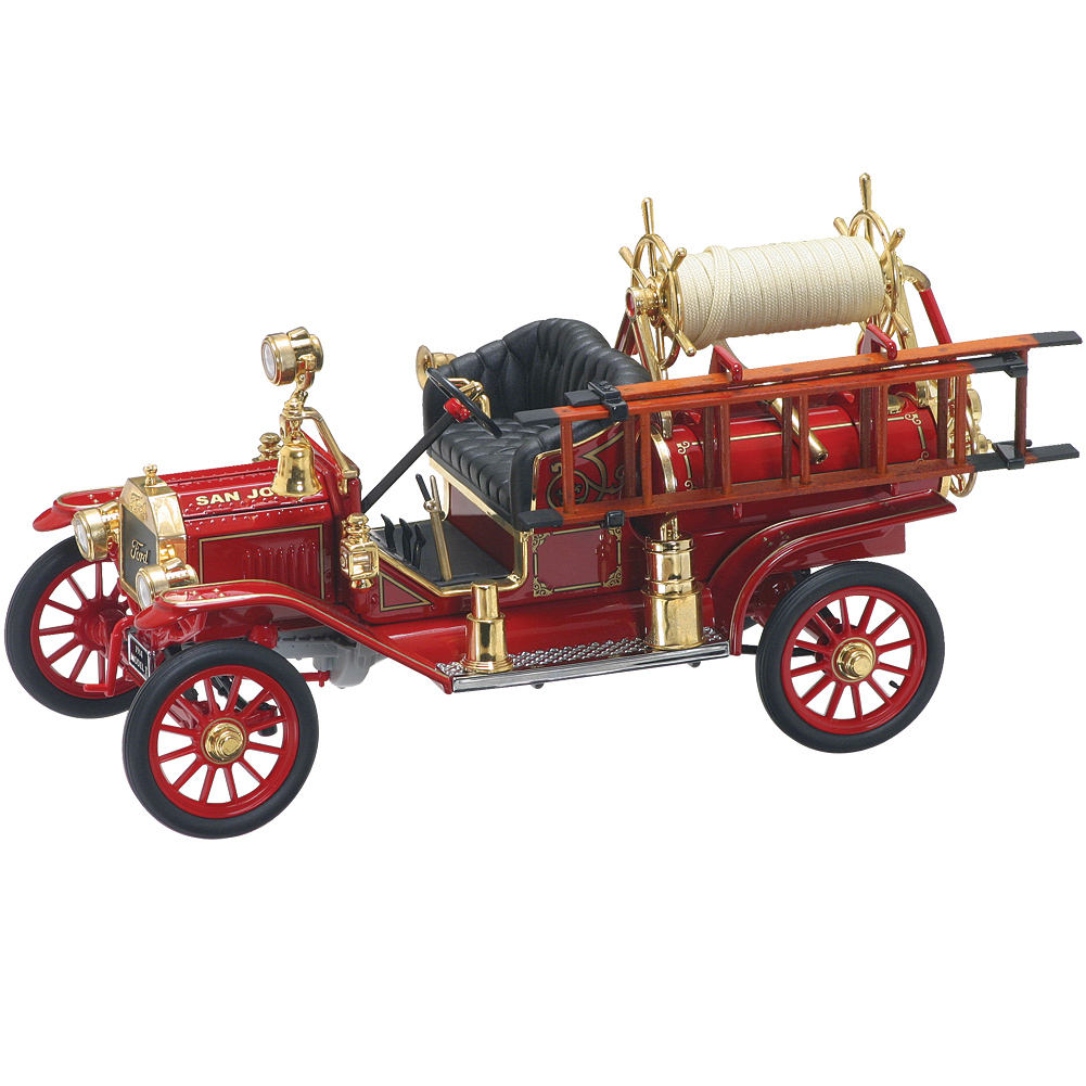 1914 Ford Model-T Fire Truck Die Cast 1:18 Scale Collectible by Johnson Smith Co.