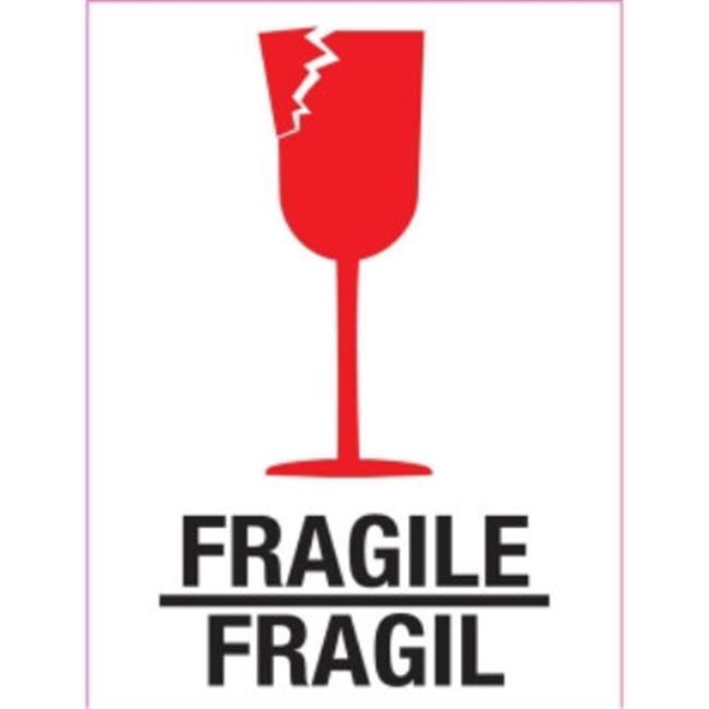Ace Label 34006F Fragile Bilingual