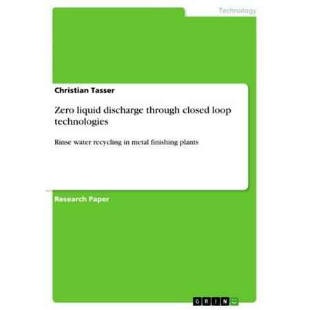 Zero liquid discharge through closed loop technologies -