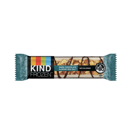 KIND FROZEN Dark Chocolate Almond Sea Salt Bars Single