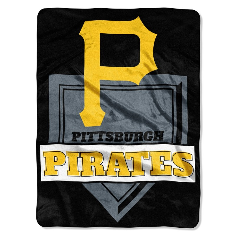 "Pittsburgh Pirates The Northwest Company 60"" x 80"" Home Plate Raschel Plush Blanket - No Size"