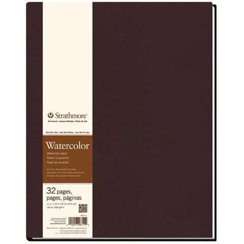 "Strathmore - Watercolor Hard-Bound Art Book - 400 Series - 8.5"" x 5.5"" - 48 Pages"