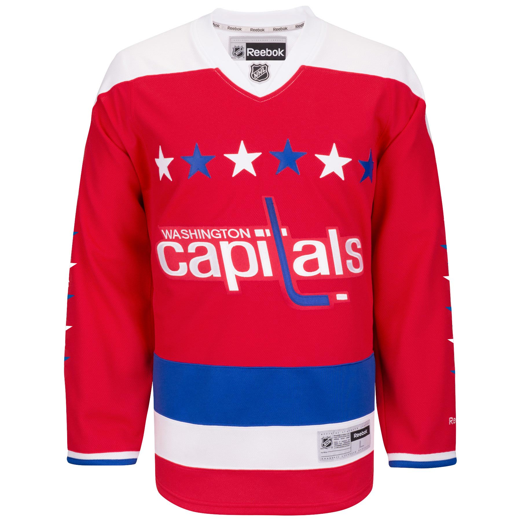 the best attitude 610f0 de00e Ccm - Nhl amp; Hockey Premier Capitals Jersey Washington ...