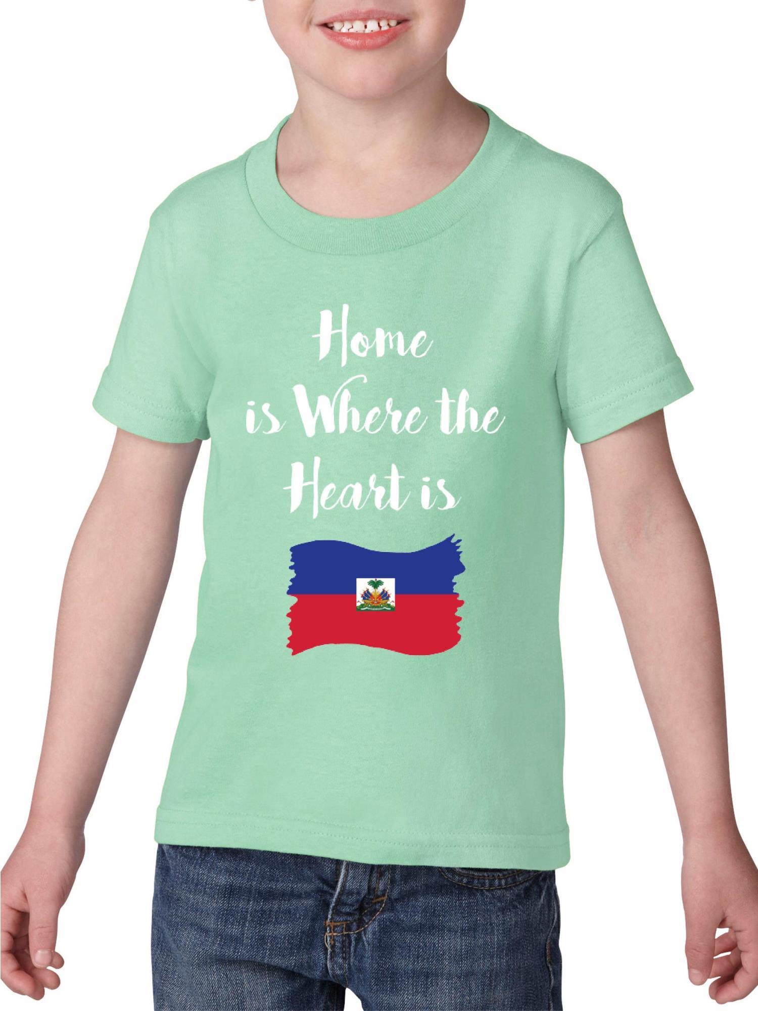 Haiti Heavy Cotton Toddler Kids T-Shirt Tee Clothing