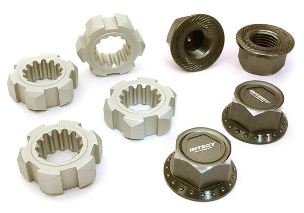 Integy RC Toy Model Hop-ups C27147GUN Billet Machined 24mm Wheel Adapters & 17mm Wheel... by Integy