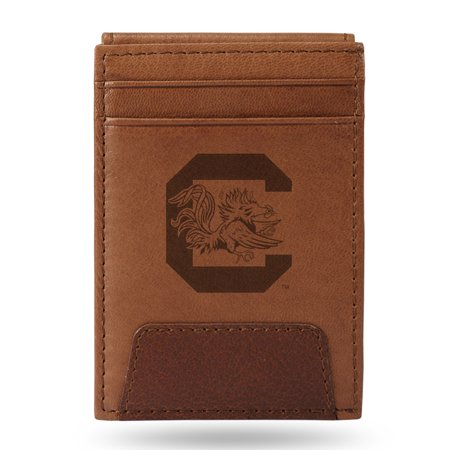 South Carolina Gamecocks Sparo Leather Front Pocket Wallet - No