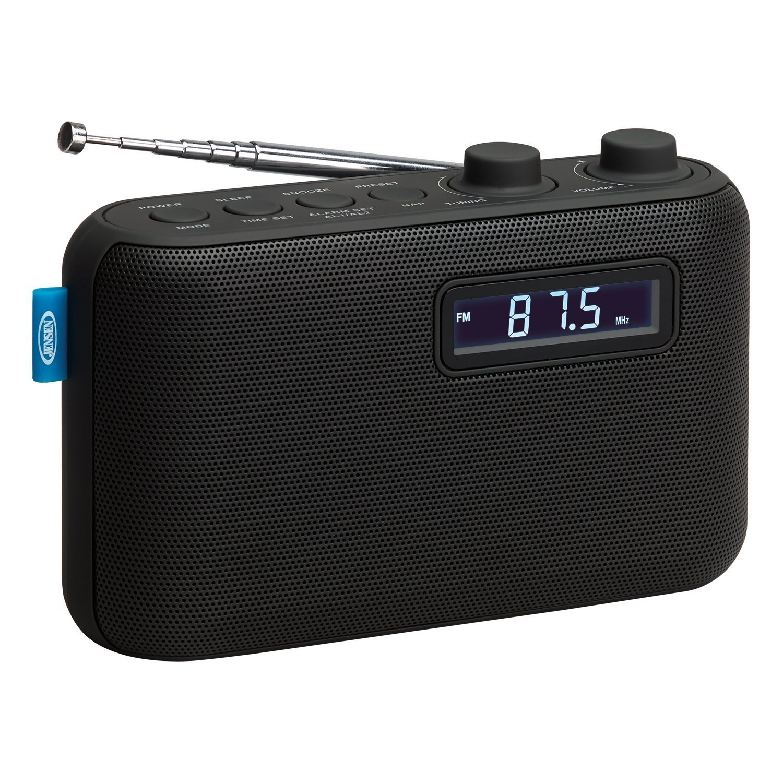 Radio, Black Home Alarm Clock Portable Bluetooth Digital Shower Radio