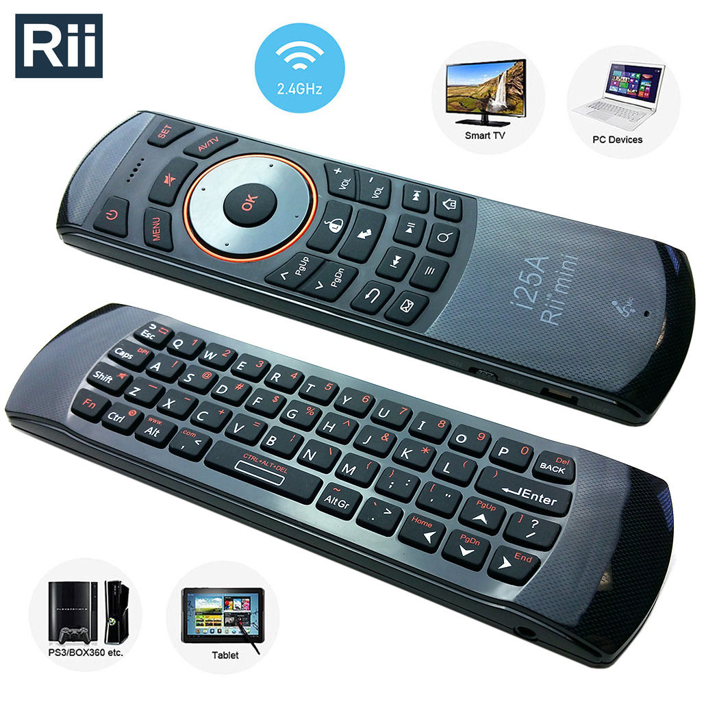 Rii 2.4Ghz Wireless Keyboard and Infrared Remote Control for TV BOX/PC Games (RT-MWK25A)