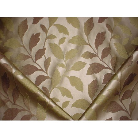 13H9 - Metallic Gold / Metallic Silver Leaf Faux Silk Damask Designer Upholstery Drapery Fabric - By the