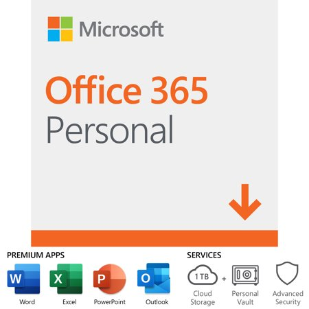 Microsoft Office 365 Personal | 12-month Subscription, 1 person, PC/Mac Download (Microsoft Word 2018 Download)