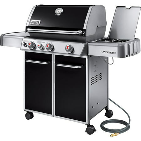 Weber Genesis E330 38,000 BTU 3 Burner Natural Gas Grill with Side Burner, Black