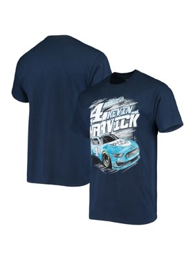 Men's Checkered Flag Royal Kevin Harvick Busch Light Low Groove T-Shirt