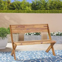 Outdoor Acacia Wood Bench, Teak