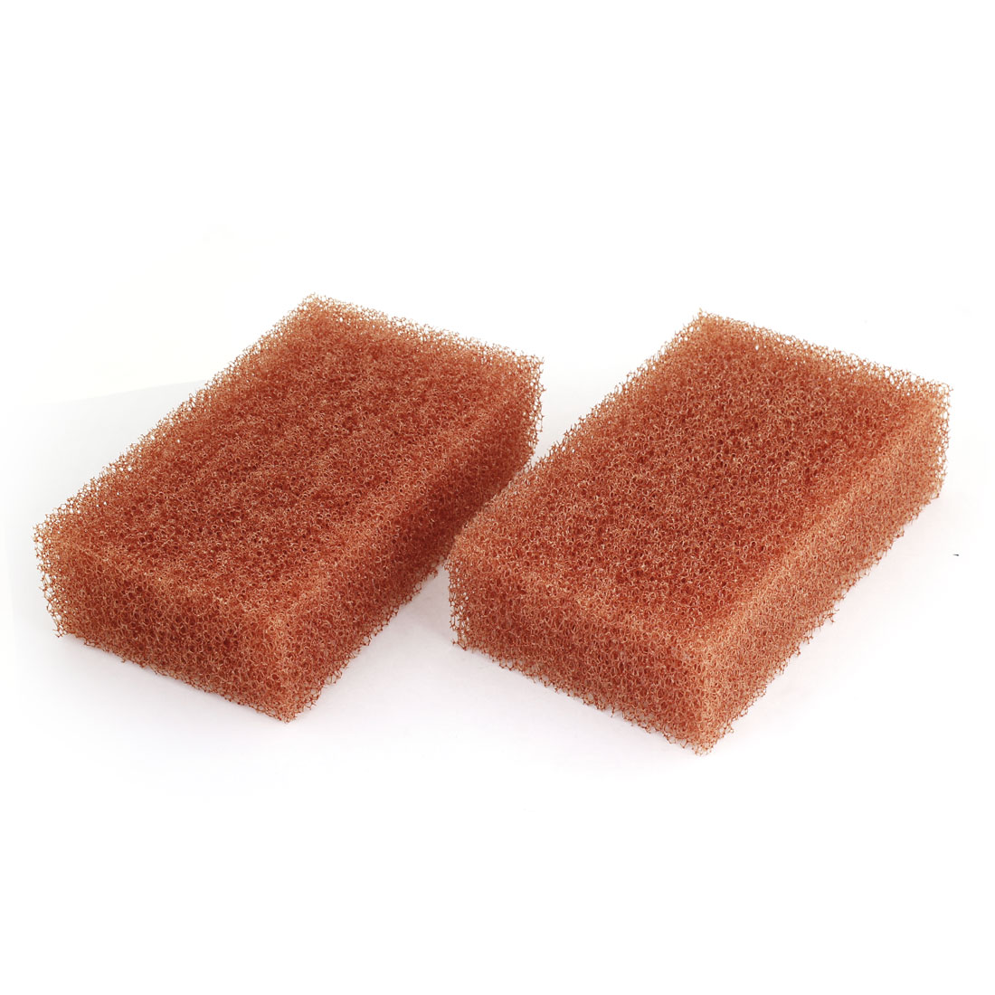 2Pcs Durable Practical Auto Car Wash Sponge Waxing Cleaning Pad Brown