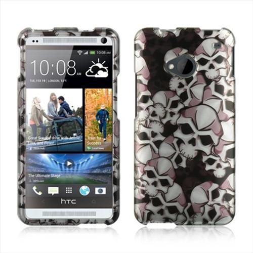 HTC One M7 Case, by DreamWireless Rubber Coated Hard Snap-in Case Cover For HTC One M7, Black/White